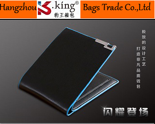 B.King 2015 New Second Layer Cowhide Short Simple Design Men Leather Wallets , High Quality Unique Portfolio Male ,Free Shipping(China (Mainland))