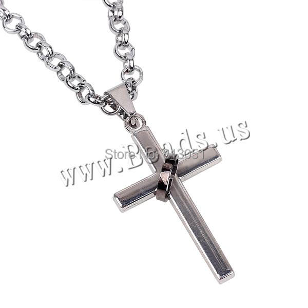 Free shipping!!!Zinc Alloy Jewelry Necklace,Kawaii,, Wrapped Cross, platinum color plated, rolo chain, nickel<br><br>Aliexpress