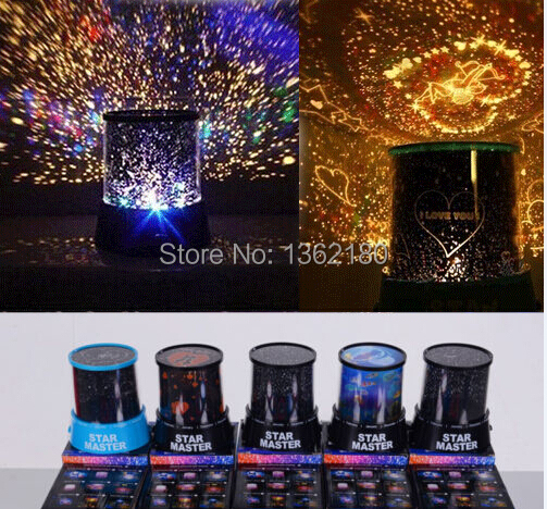 Hot 8 Design Galaxy LED Night Light Star Master Starry Sky Projector Color Changing Magic Night Lamp for Children Creative gift(China (Mainland))