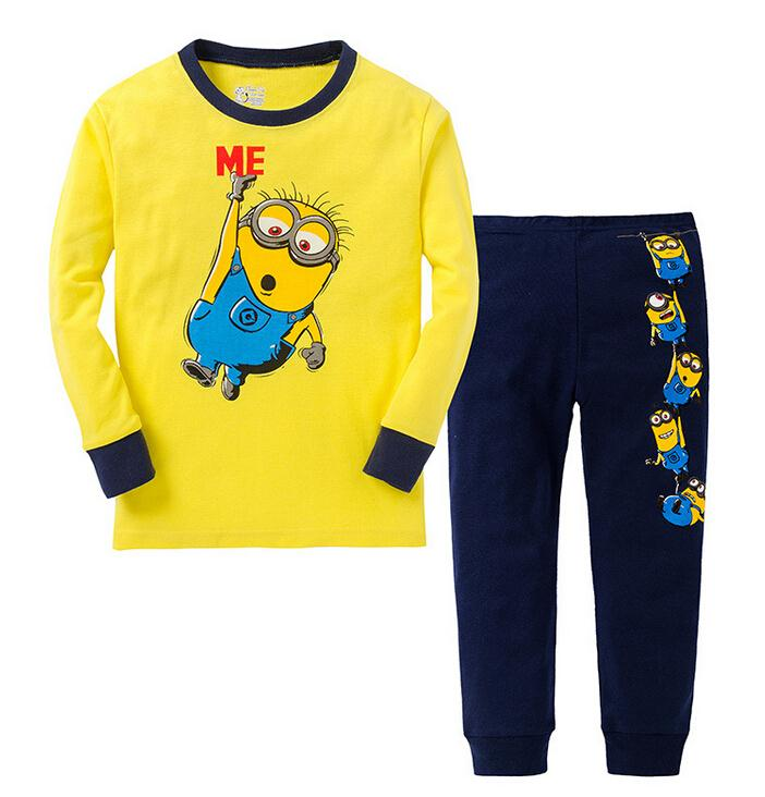2015 new minions clothes baby despicable me pajamas