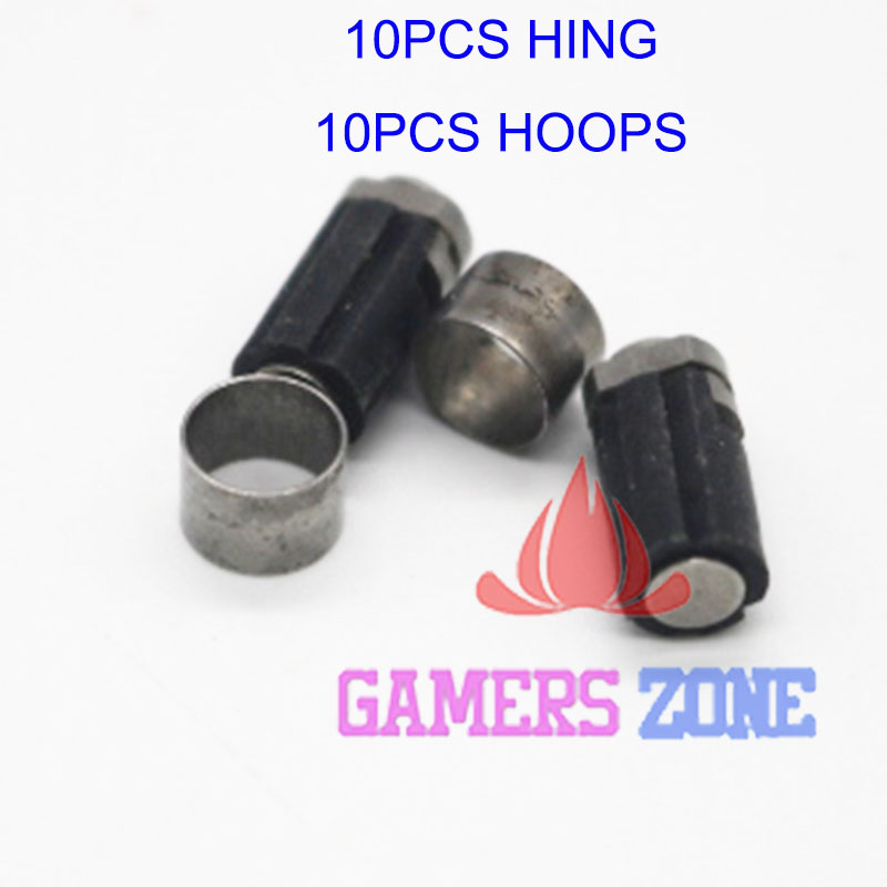 10PCS For Nintendo DS Lite NDSL Rotate Spin Axis Barrel Hinge Repair part Used(China (Mainland))