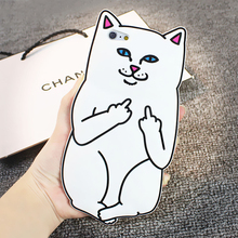 Cute Cat Case For Iphone 6 / Iphone 6 6s Plus / 5s SE Case Ripndipp 3D Animals Soft Silicon Rock Pocket Kitten Cover For Iphone6