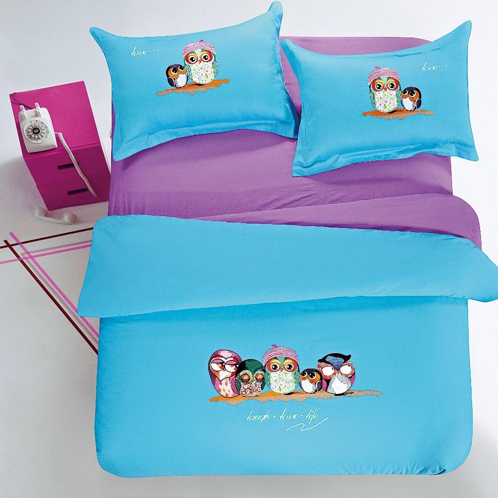 achetez en gros hibou housse de couette en ligne des grossistes hibou housse de couette. Black Bedroom Furniture Sets. Home Design Ideas