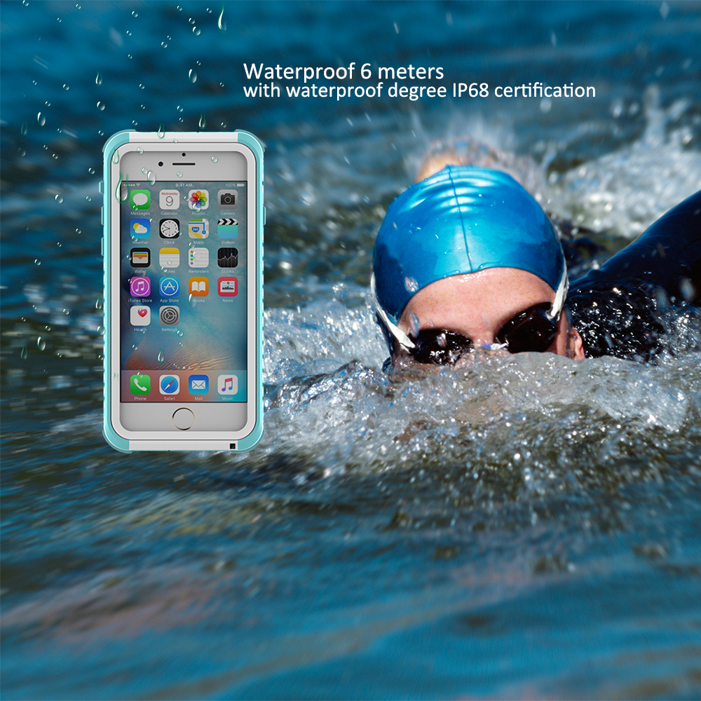 Life and swimming dual use diving ski Anti-knock For iPhone Case Mobile phone bag For iPhone 6 6s 7 plus Waterproof Case(China (Mainland))