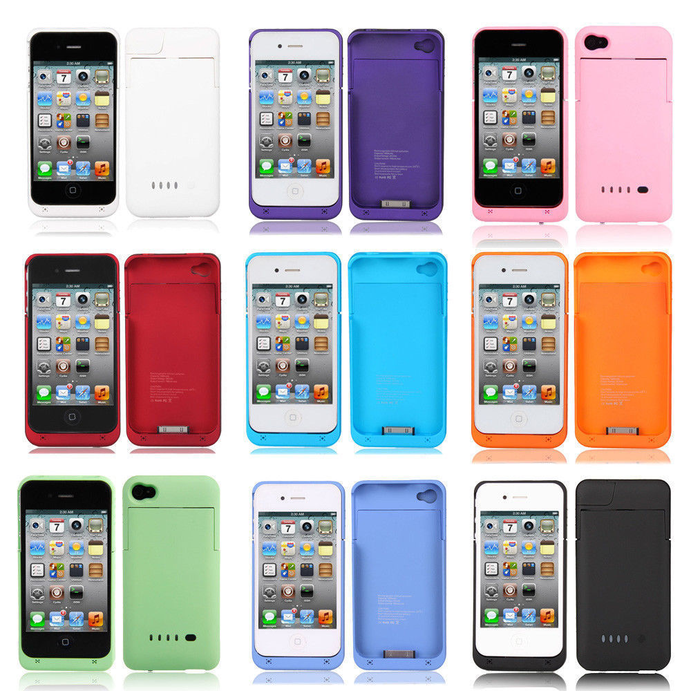 2015 free shopping New Backup External Battery Charger Case Cover Power Bank for iphone 4 4G 4S #L0192482(China (Mainland))