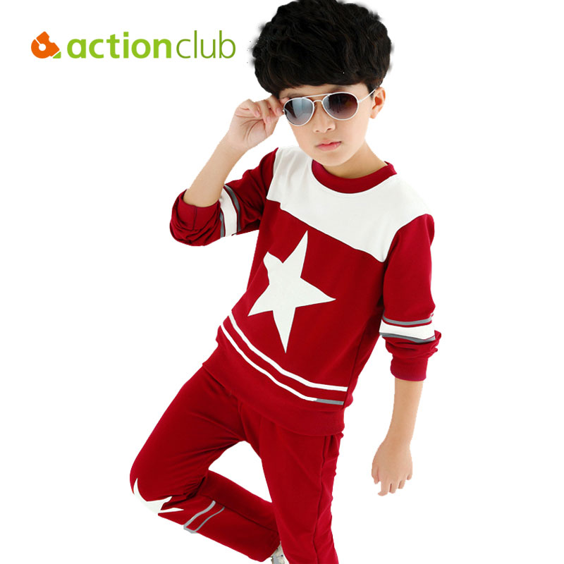 cool kid clothes sets boys autumn printing
