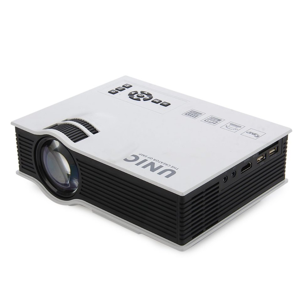 Projector UNIC UC40+ 800LM 800 x 480 Pixels Simplified Micro Projector For Home Business Portable High Definition LCD Projector(China (Mainland))