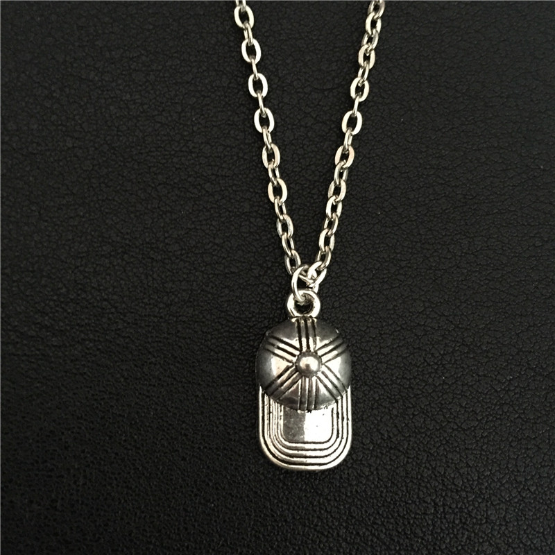 Newest Summer Sports Equipment Casual Jewelry Baseball Caps Charm Pendant 3D Hat Necklace for Men Women Personality Accessories(China (Mainland))