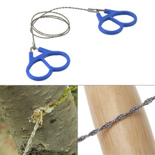 Emergency Survival Gear Outdoor Plastic Steel Wire Saw Ring Scroll Travel Camping Hiking Hunting Climbing Survival Tool(China (Mainland))