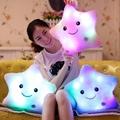 Luminous Stuffed LED Light Up Plush Glow Lucky Star Pillow Auto 7 Color Rotation Illuminated Pentagram