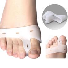 Silikongel Fuß finger zehe-separator Daumen valgus beschützer Ballen einsteller Hallux valgus wache fußpflege(China (Mainland))