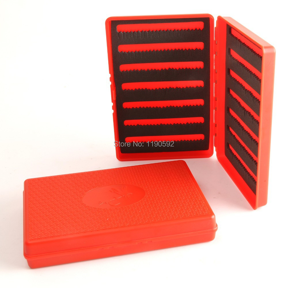 3 pieces fly fishing box with slit foam red color fishing for The fishing fly box