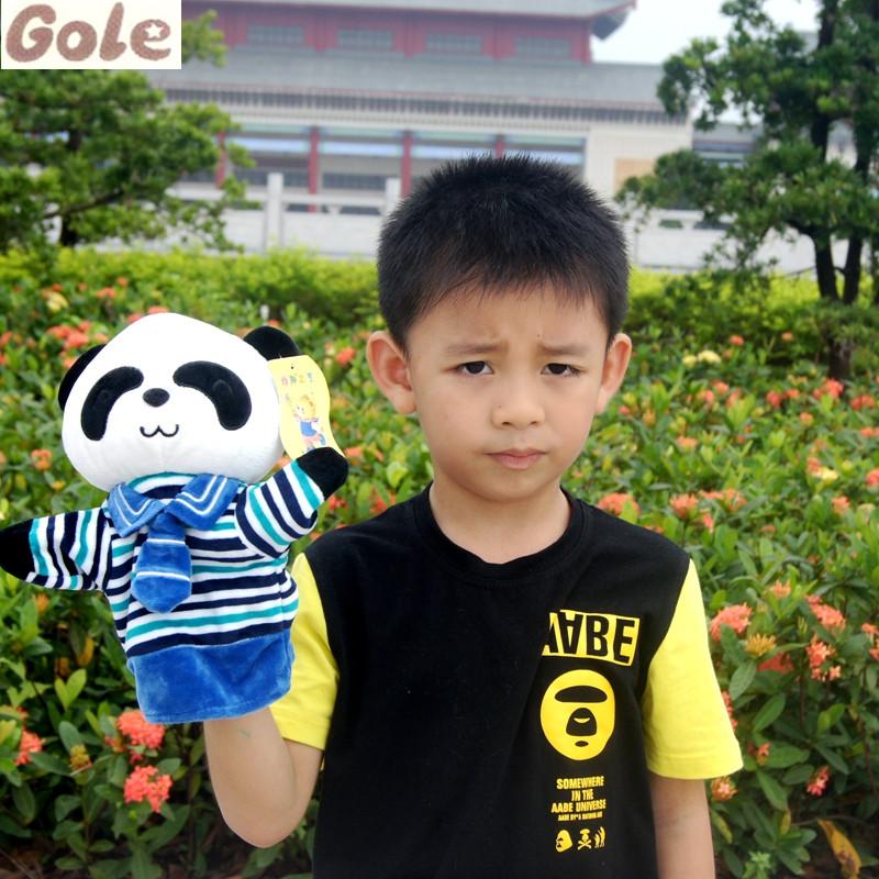 Panda Hand Puppet Toys For Children Reborn Baby Dolls For Sale Hand Puppets Kids Festa Fazenda Brinquedos De Dedo Ragdoll Kukla(China (Mainland))