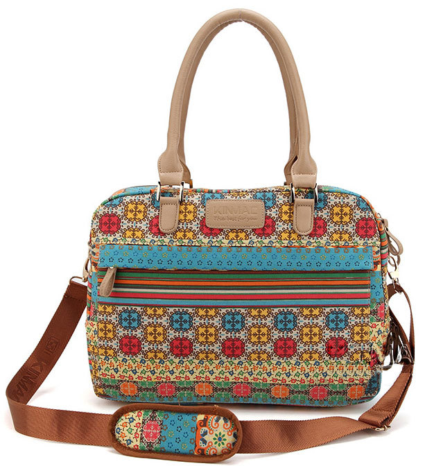 """Popular Bohemian Style 13"""" 14"""" 15"""" Canvas Laptop Shoulder Messenger Case Notebook Computer Handle Bag For HP Sony Dell Hot(China (Mainland))"""