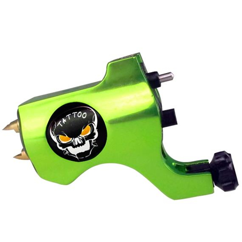 Hot Sales New Bishop Rotary Tattoo Machine For Shader and Liner Green High Quality Fashion Tattoo Machine Free Shipping(China (Mainland))