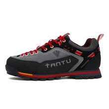 VSIOVRY Ayakkabı Erkekler yüksek kalite hakiki Deri rahat ayakkabılar Nefes Sneakers Erkekler için Su Geçirmez Açık Trekking Ayakkabı(China)