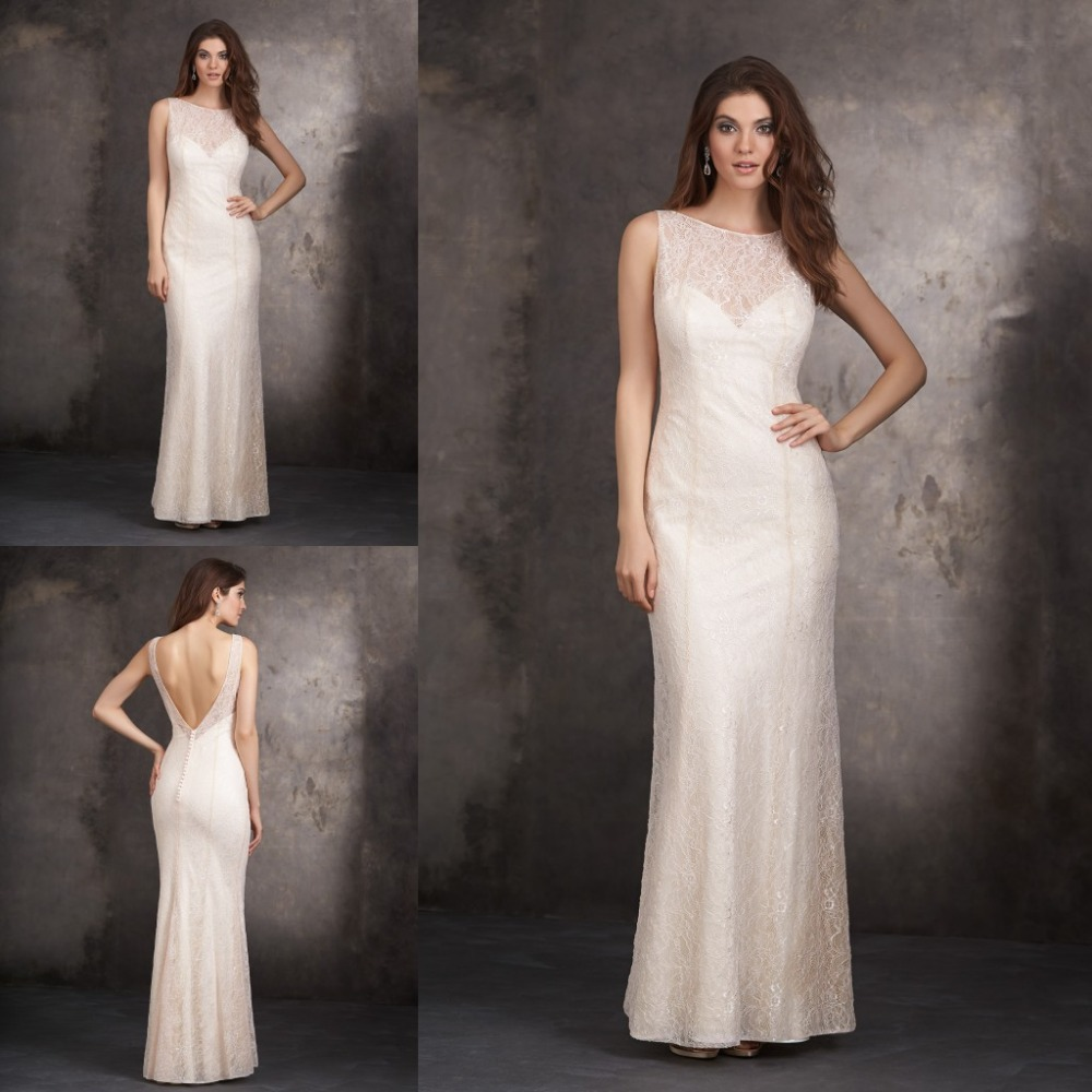 Wedding Nude Bridesmaid Dress online buy wholesale nude long sleeve bridesmaid dresses from 2015 new arrival wedding dress high neck see through ivory lace long
