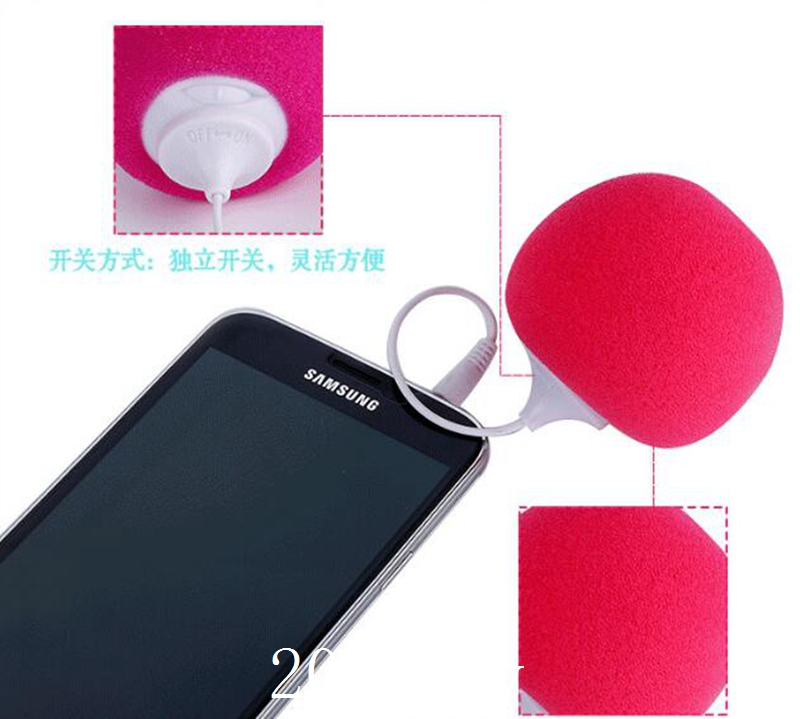 Freeshipping Fashion Hotsell Multi-Color Creative Mini Music Balloon Speaker Cute Music Ball for ipad iphone ipod Samsung 500pcs(China (Mainland))