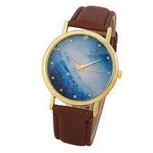 Buy Creative Unisex Watch Women Quartz Round Dial Women Watches Faux Leather band Analog Wrist Quartz Watch relogio feminino #S0 for $1.93 in AliExpress store