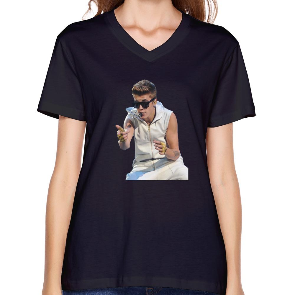 Pre Cotton Justin Bieber Women T Shirts 2015 Top Designer