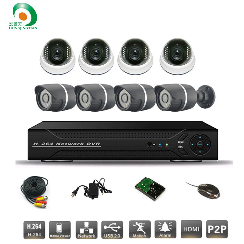 8ch CCTV System Sony 700TVL Dome&amp;bullet IR Cameras Security Video System Network P2P Cloud HDMI D1 DVR Recorder CCTV kit Syste<br><br>Aliexpress