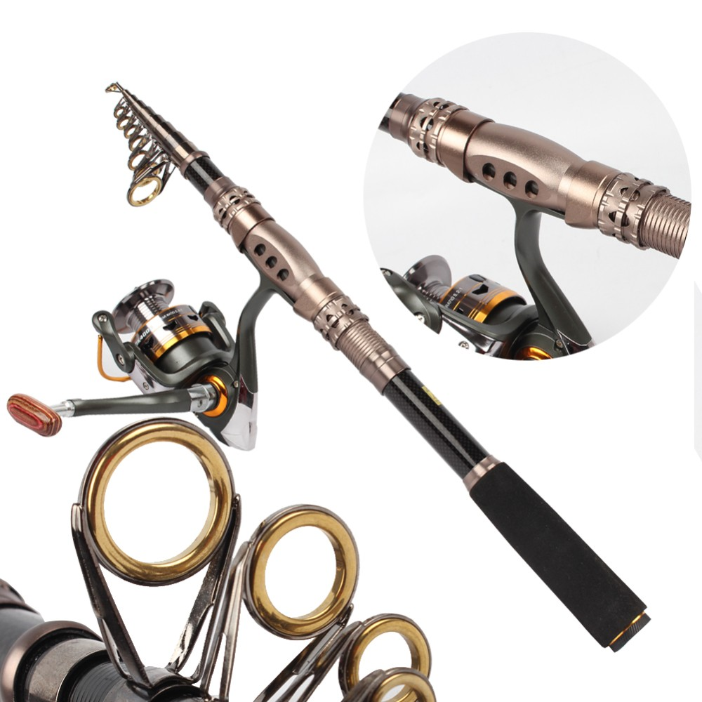 Travel Portable Telescopic Spinning Fishing Combos Rod And