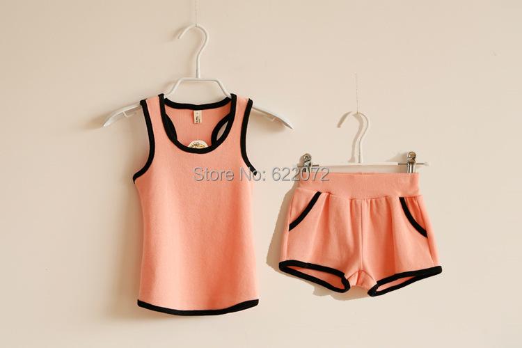 2015 Summer Baby boy clothing Set vest set Girls/Boys t shirt+pants suit undershirt Shorts Girls Kids clothes - Mia Kids' Garments store