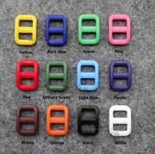 """50pcs/lot 3/8"""" Plastic Slider Tri Glide Adjust Buckles For Dog Collar Harness Backpack Straps Webbing 10.5mm(China (Mainland))"""