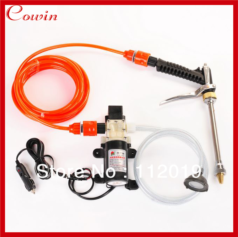 Free shipping New high pressure portable 12v 45w car wash device car washer washing gun water pump Auto wash clean machine(China (Mainland))