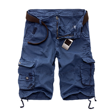 New 2016 Men Cargo Shorts Casual Loose Short Pants Camouflage Military Summer Style Knee Length Plus Size 10 Colors Shorts Men