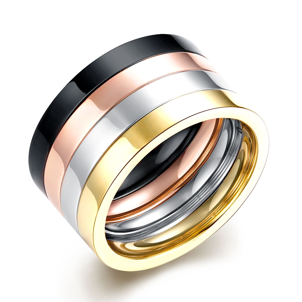 2016 New 316L Stainless Steel Titanium Multicolor Ring Men Jewelry Brand Fashion Party Male RingsHMJTR015(China (Mainland))