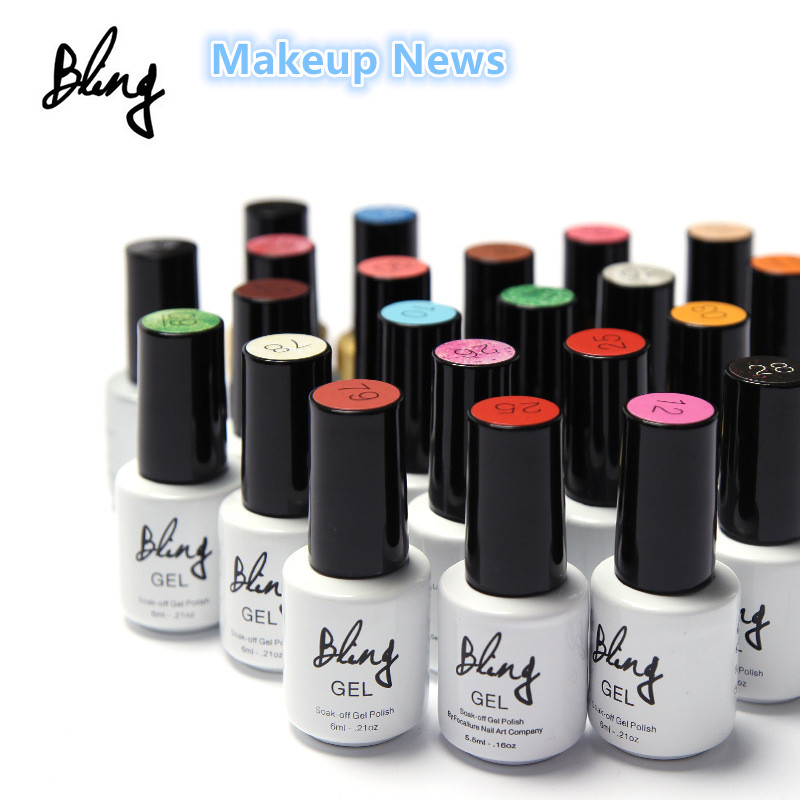 1pcs Colors Fashion Bling 6ml Soak Off UV Gel Nail Gel Polish Cosmetics Nail Art Manicure Nails Gel Professional Kit UV LED Lamp(China (Mainland))
