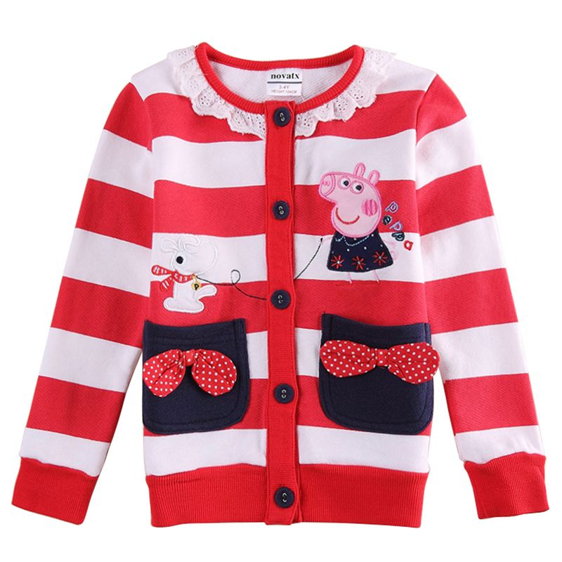 kids clothing nova baby girls winter coats new design casual cartoon embroidery outwears jackets girl F5730