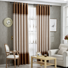 [byetee] High Quality Curtains Fabric Stripe Drapes Curtain Blackout Curtains For Bedroom Kitchen Curtains For Living Room(China (Mainland))
