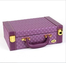 Wholesale jewelry display leather pattern casket / Senior jewelry box organizer / case for jewelry storage / gift box(China (Mainland))