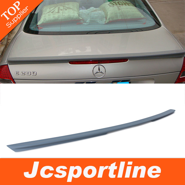 PU rear trunk spoiler Benz,car wing W211(fit E class W211 MG style 2007-2009)