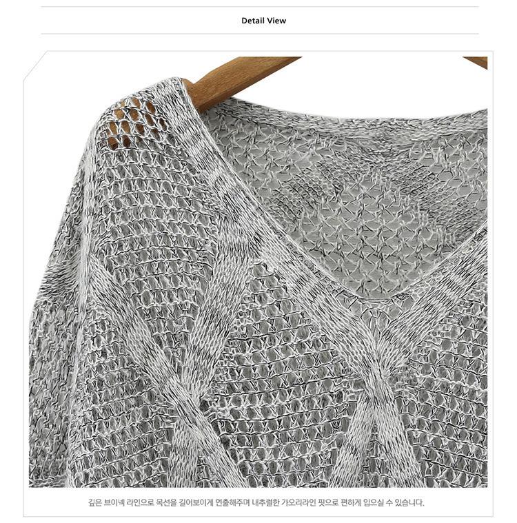 Весна европа женской свитер v шея
