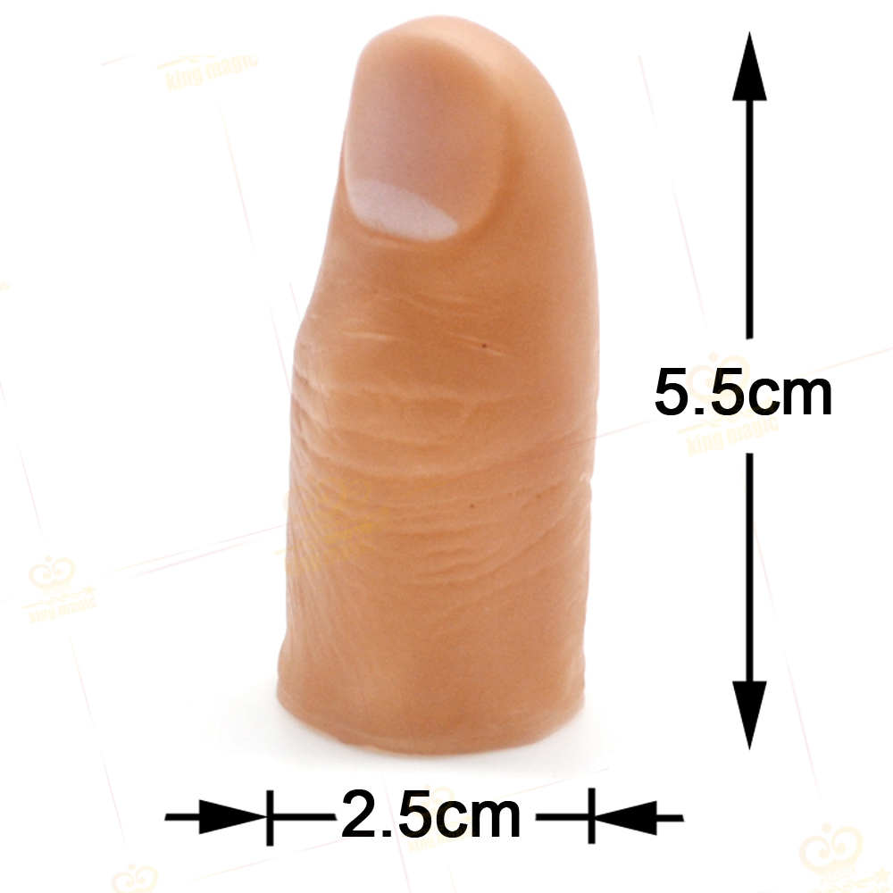 2016 Classic Toy Magic Tricks Thumb Tip Soft Fake Finger Magic Accessory Free Shipping(China (Mainland))