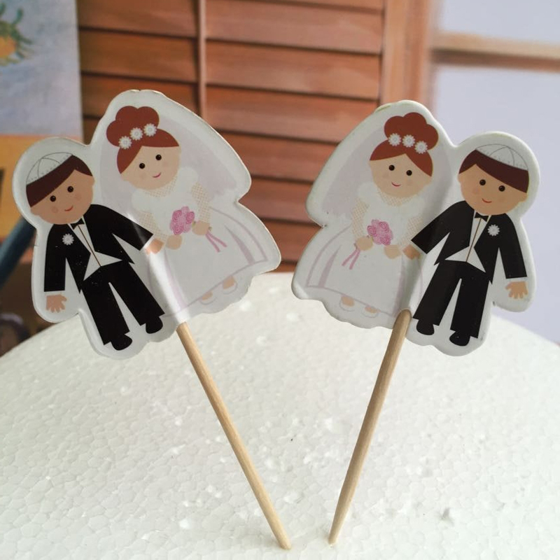 Wedding Party Gifts For Bride And Groom : groom Party cupcake toppers picks decoration for Wedding party favors ...
