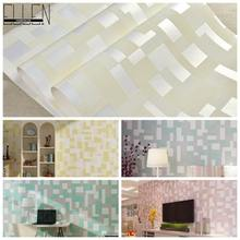 3D room wallpaper tartan wall papers home decor straw 5 colors living room wallpaper 5.3 meter/roll