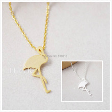 1pcs Free Shipping Fashion Women Flamingo Pendant Necklace for Girl GIFT