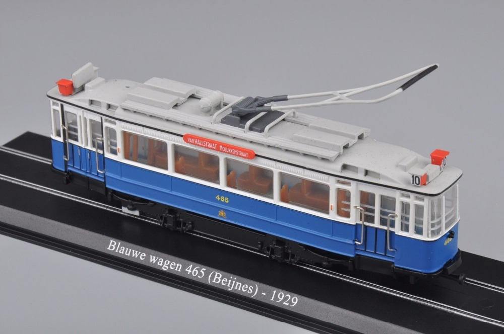 New 1:87 Scale Model Train Atlas Tram Blauwe Wagen 465 (Beijnes )-1929 Diecast Tram Model Auto Train Toys Collection Gift F(China (Mainland))
