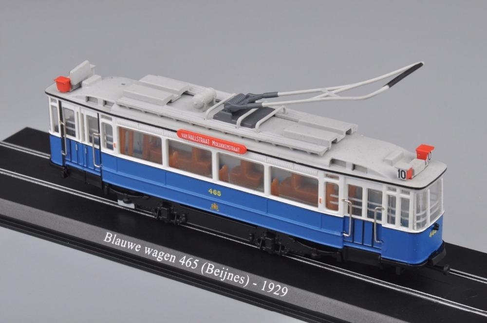 New 1:87 Scale Model Train Atlas Tram Blauwe Wagen 465 (Beijnes )-1929 Diecast Tram Model Auto Train Toys Collection Gift F(China (Mainland))