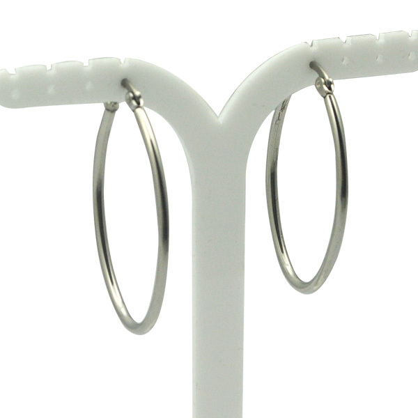 Stainless steel jewelry silver color thin oval hoop earrings for Women Surgical steel material healthy and Anti Allergic(China (Mainland))
