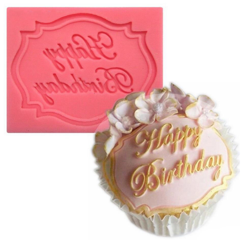 Fondant Cake Decorating Birthday : Happy Birthday Cake Card Shape Decorating Fondant Cake ...