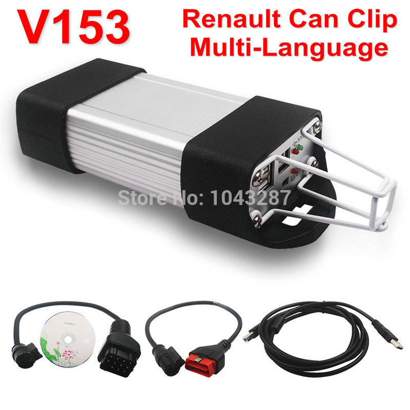 Newest Version V153 Renault Can Clip Professional Diagnostic Tool Supports Multi-Language Renault Can Clip Scanner(China (Mainland))