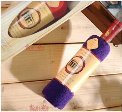 1 piece free shipping Cake towel day gift opp bags present box single wine bottle 100% cotton single bottle towel(China (Mainland))