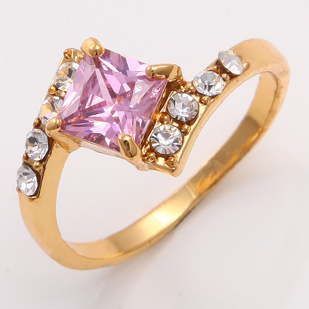 aliexpress buy pretty 14k yellow gold filled pink