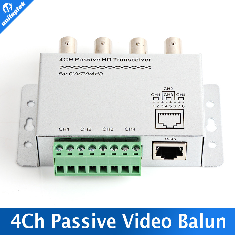 SURGE 4 Channel Active Passive Video Balun Rohs Transmitter Receiver 4CH UTP Cat5 RJ45 Support HDCVI/AHD/TVI Camera(China (Mainland))