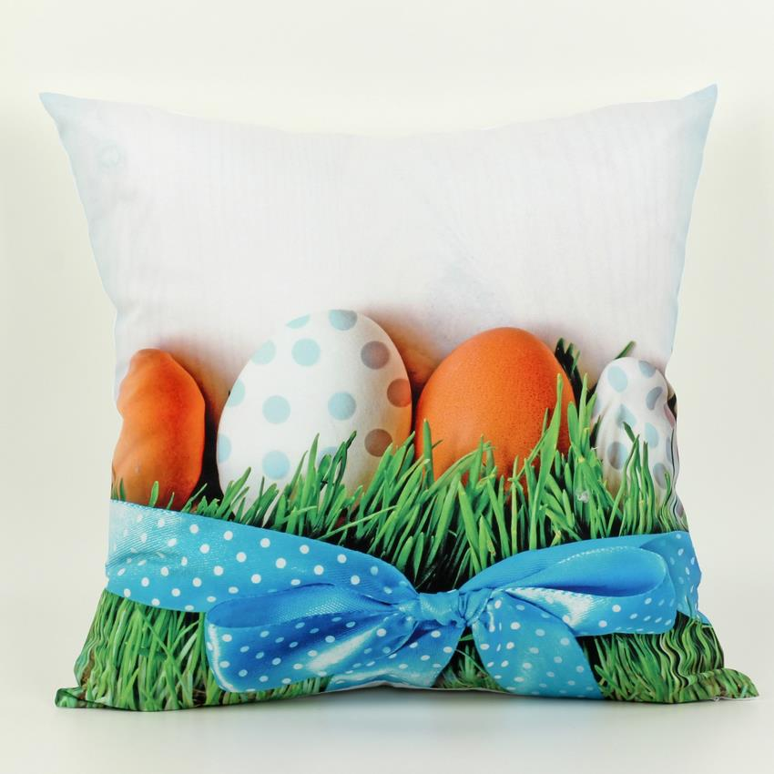45 cm x 45 cm Easter Egg Cushion Covers 5 Styles Decorative Throw Pillows Cover 3D 1 side Printing Easter Throw pillows Cover(China (Mainland))